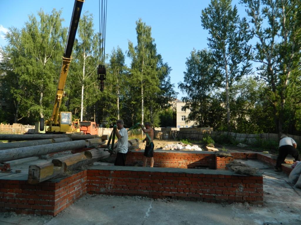 Подготовка цоколя будущего храма