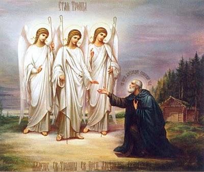 Один из наиболее известных образов — явление Пресвятой Троицы преподобному Александру Свирскому.