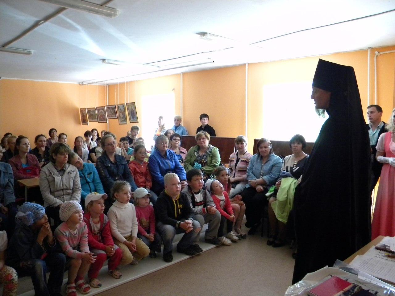 Встреча с о.Софронием в школе