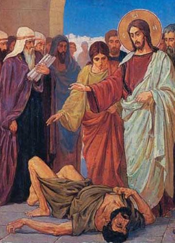 Изгнание беса Иисусом Христом