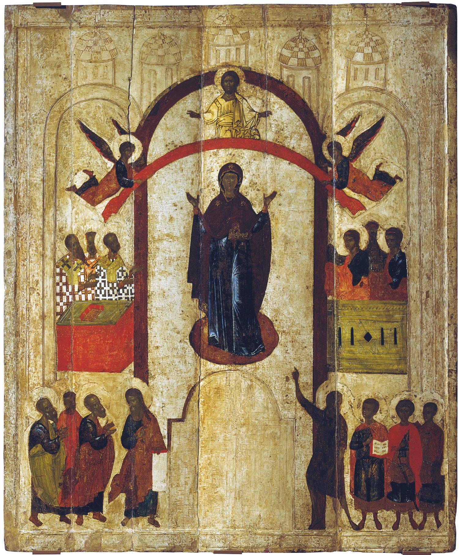 Икона из Зверина монастыря в Новгороде. 1399 г.