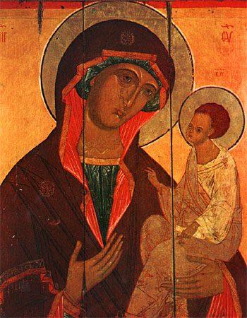 Грузинская икона Божией Матери, снимок