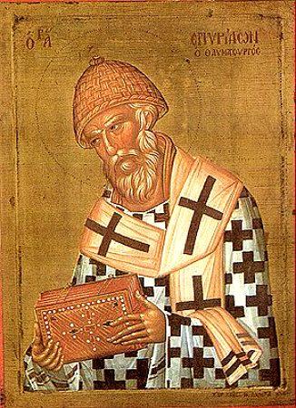 Икона святителя Спиридона Тримифунтскго чудотворца